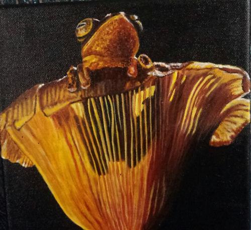 Frosch - 0,20 x 0,20 m - Acryl auf Leinwand